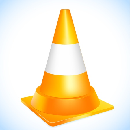 Orange traffic cone Stock Vector - 18516221