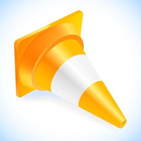 Traffic cone isolated on a white Stock Vector - 18516230