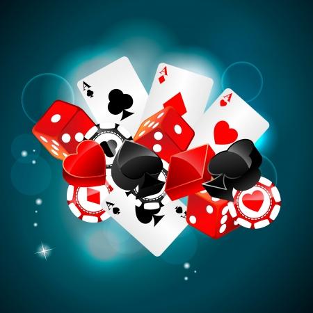 Casino jugando elemento tarjeta