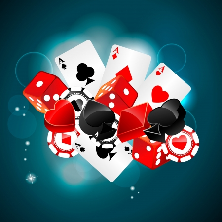 deck of cards: Casino playing card element