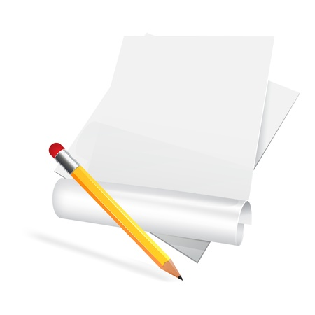 chronicle: Paper scroll with pensil