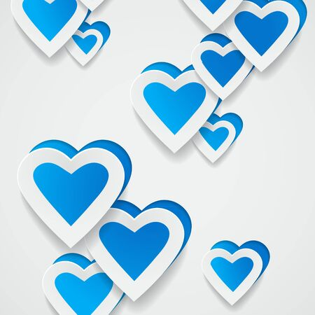 Paper blue hearts background Stock Photo - 20871762