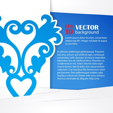 Cutout paper flowers vector greeting card Stock Vector - 20871768