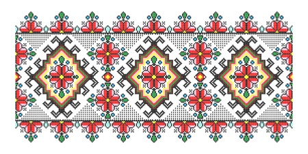 cross stitch: Red vintage embroidery seamless