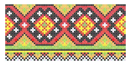 cross stitch: Ethnic vintage embroidery seamless