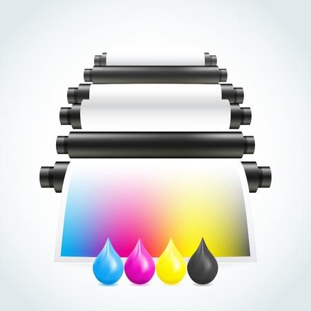 Printing machine Zdjęcie Seryjne