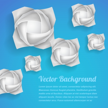 Paper rose flowers background Stock Vector - 21528775