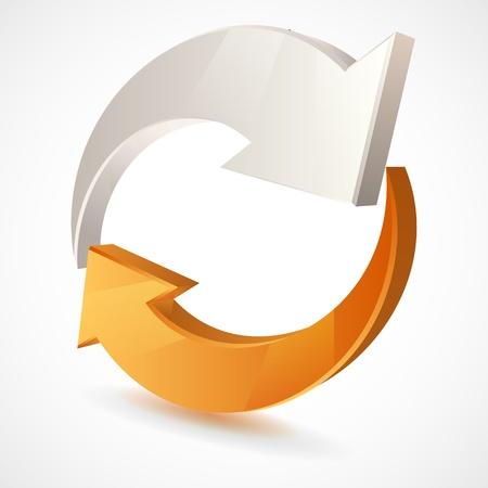 Ilustraci�n vectorial de flechas 3d, dise�o de logotipos Vectores
