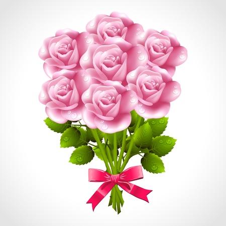 Rose bouquet Stock Vector - 21528786