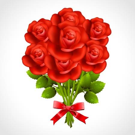 Bouquet of red rose Stock Vector - 21528787