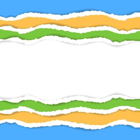 Fondo de papel rasgado con el espacio para el texto Vectores