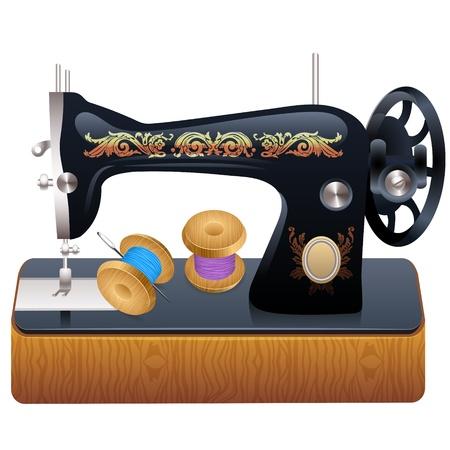 maquinas de coser: Máquina de coser, vector