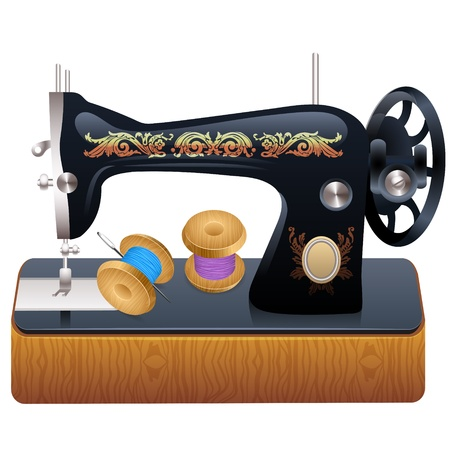 Sewing machine, vector Vector