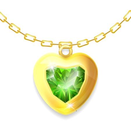 coeur diamant: Brillant valentine coeur de diamant Illustration