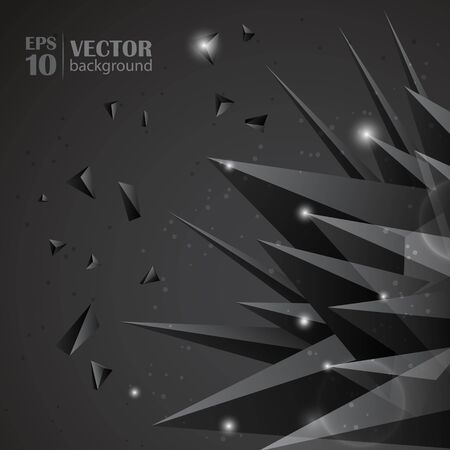 Origami abstracta ilustraci�n vectorial.