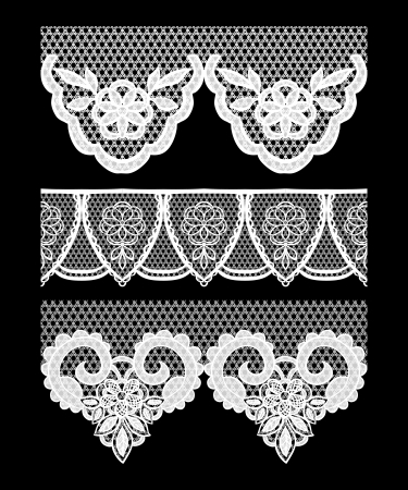 Lace seamless borders.