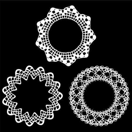 Set of napkin elegant design elements Vector Illustration