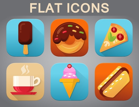 Universal Flat Icons for Web and Mobile Applications Set