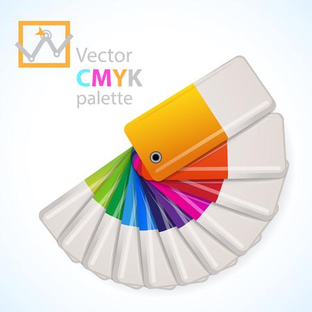 color swatch book: Color palette icon. Vector illustration