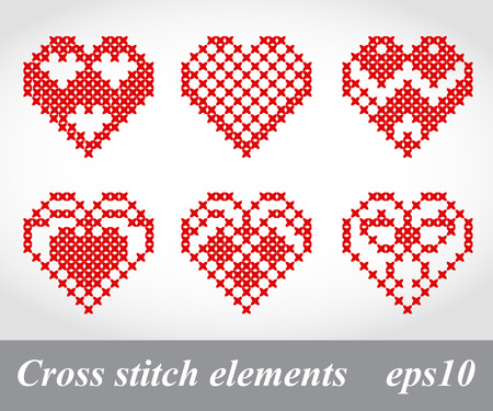 Vector cross stitch embroidery, can be used for decoration, package design Vector