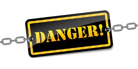 electroshock: Vector danger warning sign.