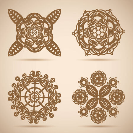 Encajes Ornamento C�rculo Vectores