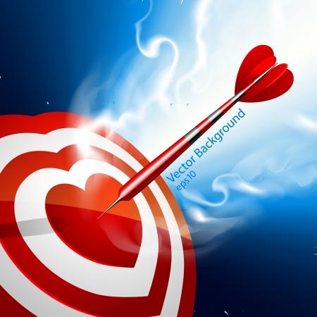 Love darts - vector illustration Stock Vector - 25494820