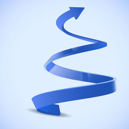 Spiral arrow 3D.