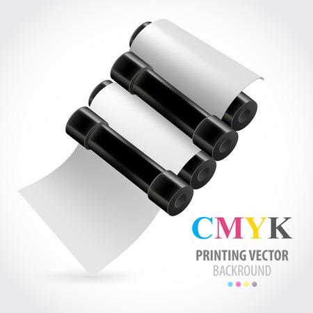 printing house: Printing machine Illustration