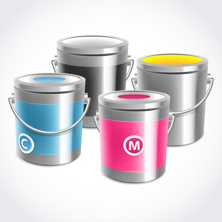 paint cans: CMYK inks