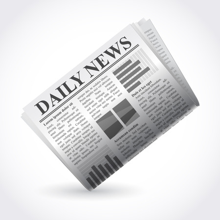 lately news: Vector illustration of newspaper