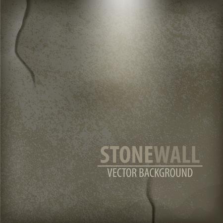 fondo de piedra: Vector Fondo de piedra. La pared de piedra gris Vectores