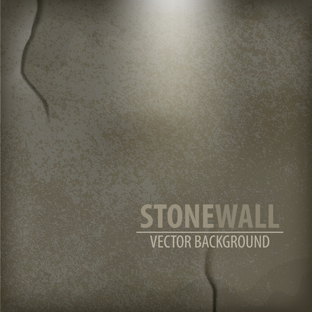 Vector Stone Background. Wall from gray stone Vector