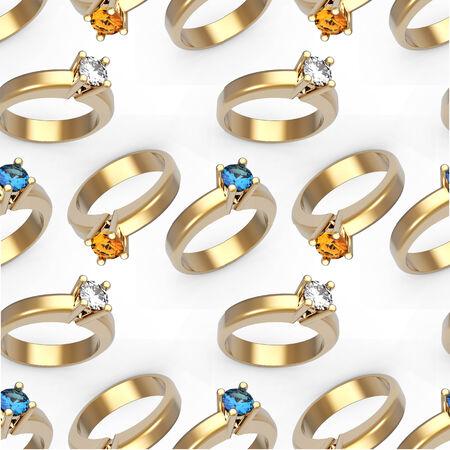 diamond rings: Diamond solitaire engagement rings seamless