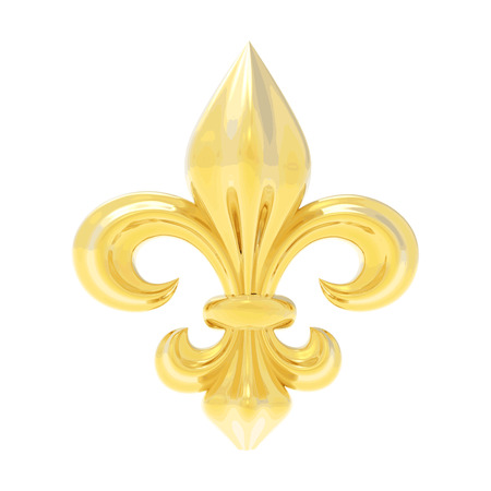 Fleur de lis isolated on white Stock Illustratie