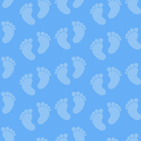 Seamless Baby Feet Pattern. Baby boy blue seamless photo