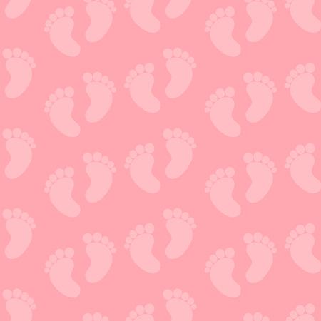 pie bebe: Modelo inconsútil Pies del bebé. Bebé inconsútil rosado