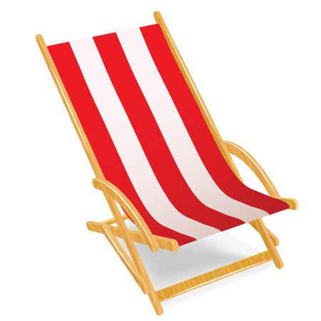 chaise lounge: Chaise lounge illustration isolated on white background Illustration