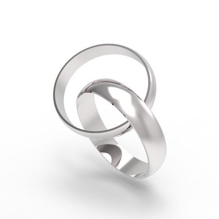 bodas de plata: Los anillos de bodas de plata grabada