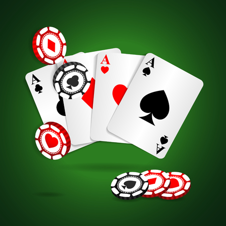 Casino cards background.  Vector backdrop for your designs Vector