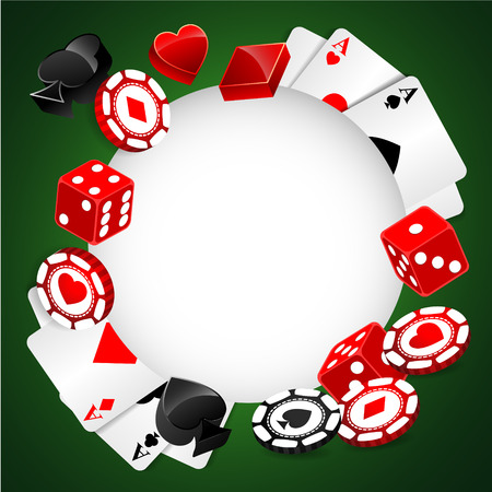 casino chips: Roulette Vector Casino Background