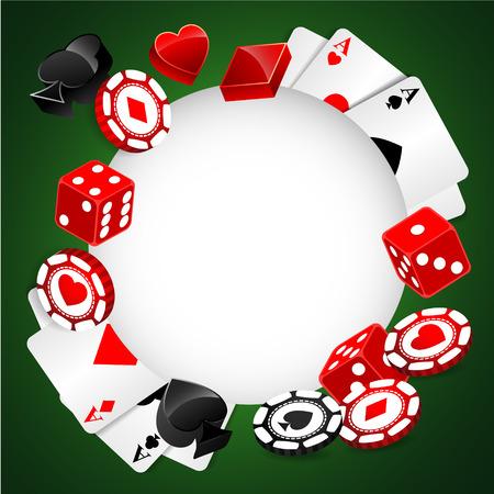 hold em: Roulette Vector Casino Background