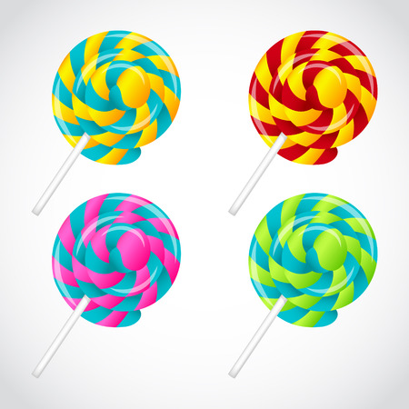 Delicious lollipop vector set Illustration