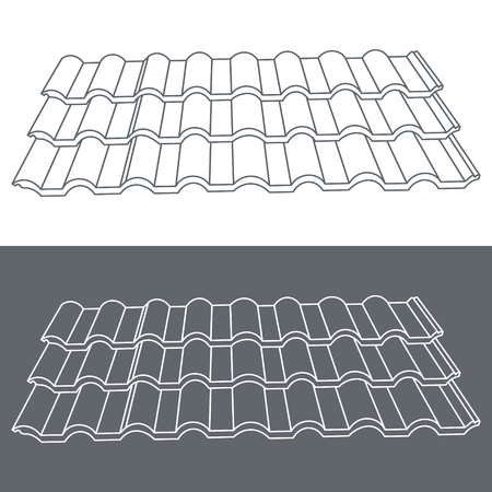 tile roof: Tile element of roof. Eps10 vector illustration.