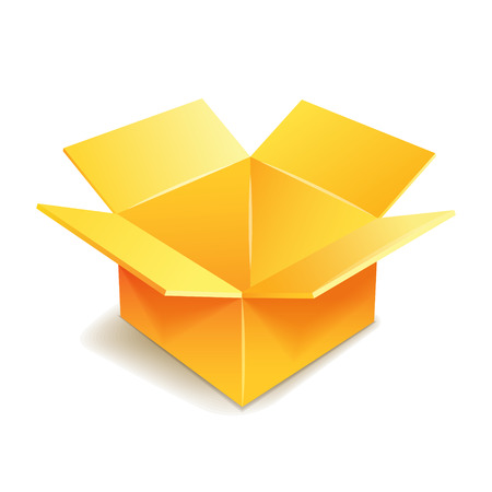 Cardboard box icon. Vector