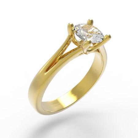 Diamond anillo de compromiso solitario