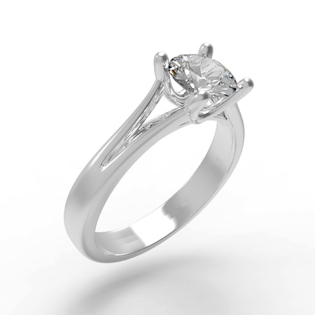 diamond rings: Diamond solitaire engagement ring
