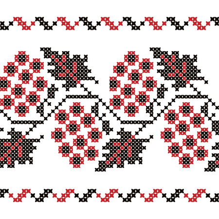 repeat texture: Vintage embroidery Ukrainian seamless ornament. Part 1