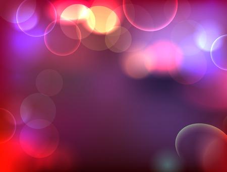 city lights: City lights abstraction. Bokeh night illustration Illustration