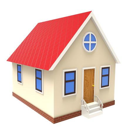 3d illustration of house over white background illustration